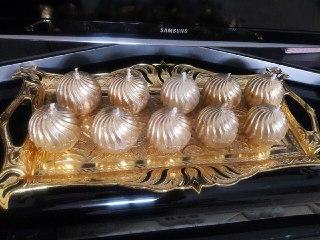 آموزش روکش شمع با پودر طلا